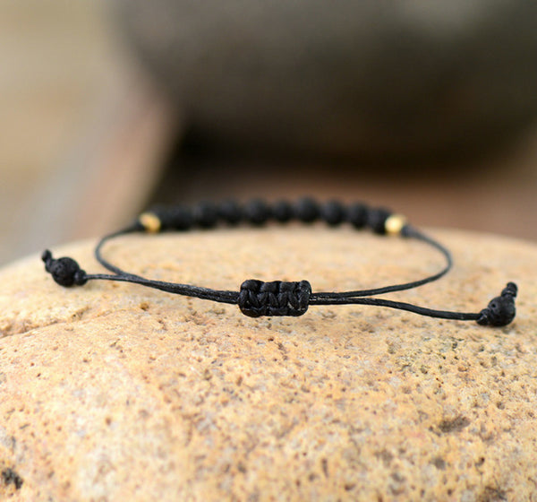 Simple Boho Bracelet Fashion Lava Bead Adjustable