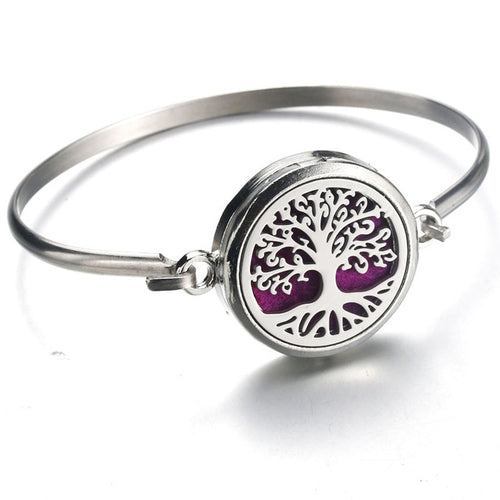 Tree of Life Aromatherapy Diffuser Locket Bracelet