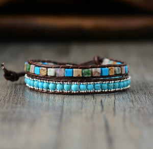 Vintage Leather Bracelets High End Mix Natural