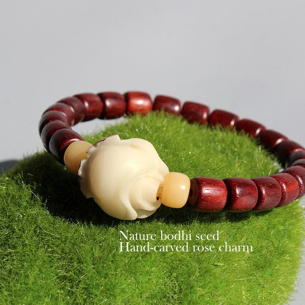 Natural Red Sanders Wood Beads Bodhi
