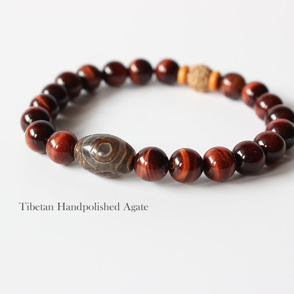 Natural Red Tiger Eye Stone Beads