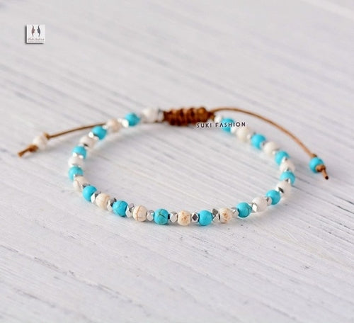 Womens Bracelet Stone Beads String Friendship