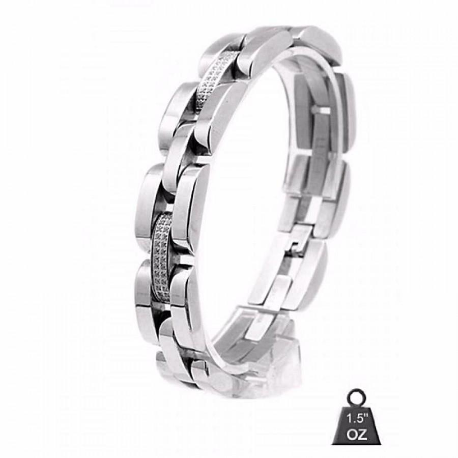 Stainless Steel bracelet with CZ 8018-1