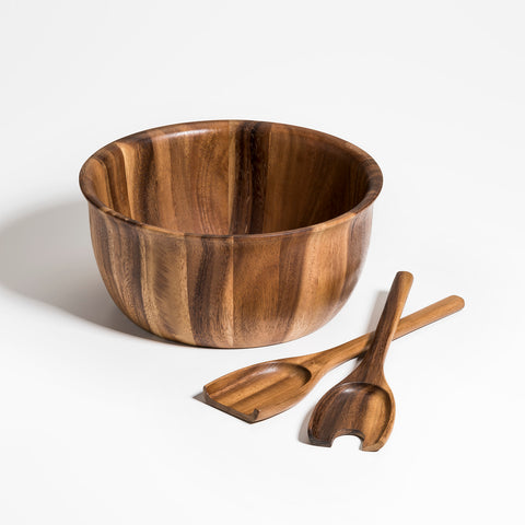 Soro Large Salad Bowl with Servers