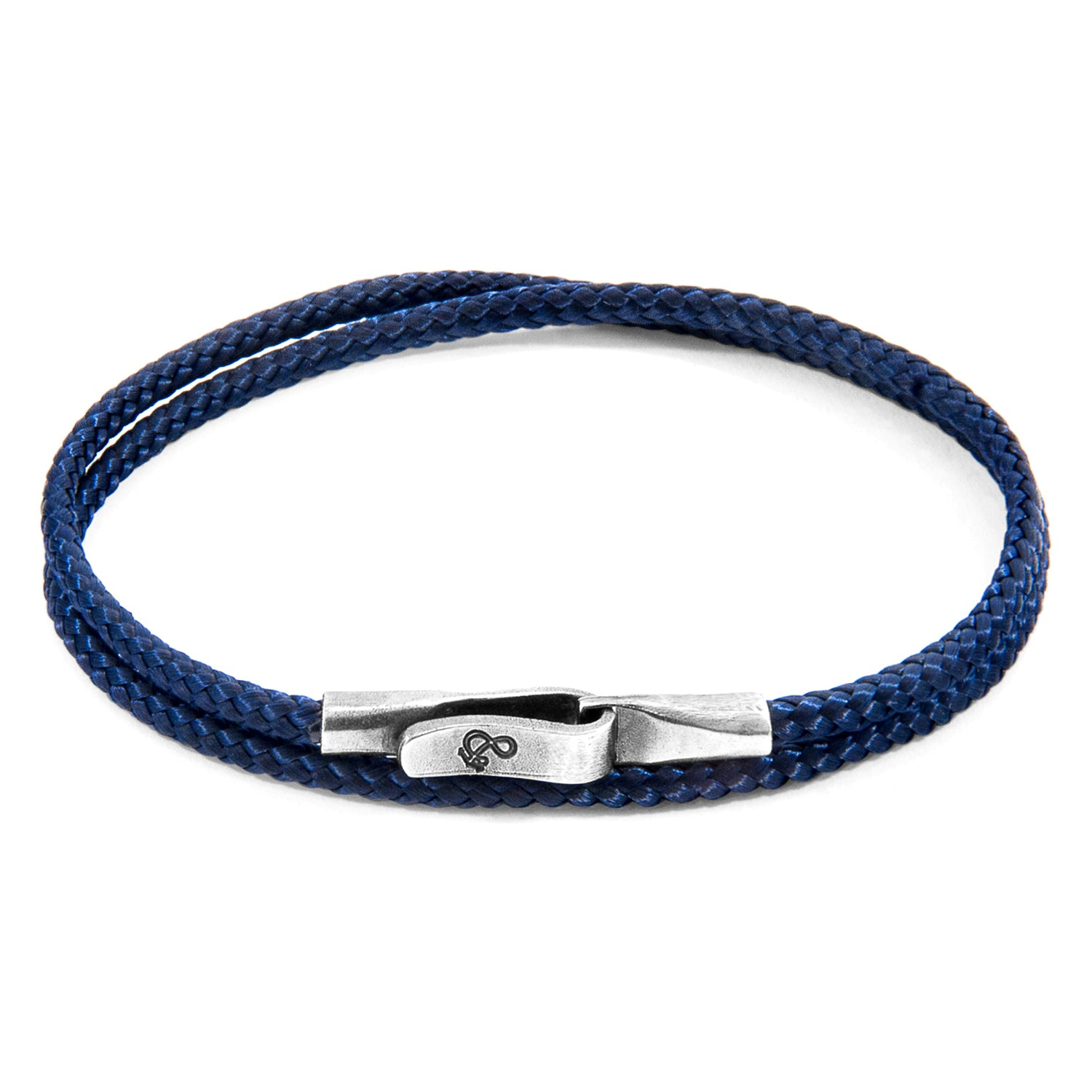Navy Blue Liverpool Silver and Rope Bracelet