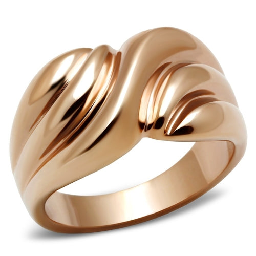 GL214 IP Rose Gold(Ion Plating) Brass Ring with No