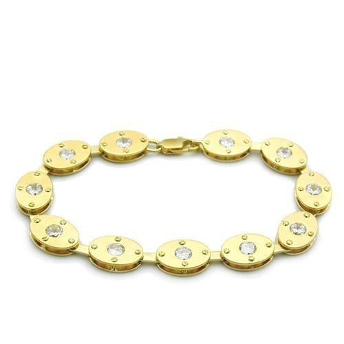 LO2018 Matte Gold & Gold Brass Bracelet with AAA