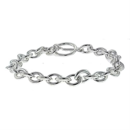 LOA537 Silver Brass Bracelet with No Stone in No