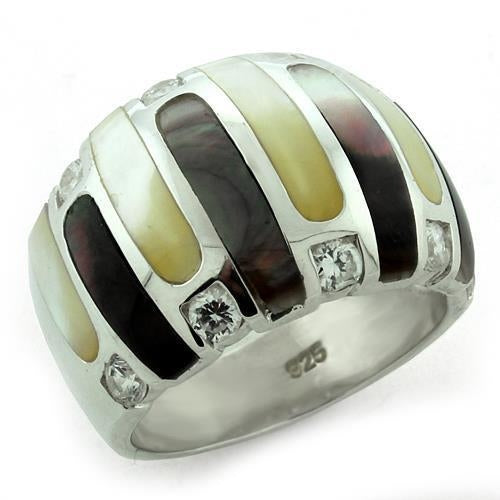 LOAS1167 High-Polished 925 Sterling Silver Ring