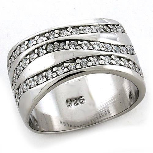 LOAS1178 Rhodium 925 Sterling Silver Ring with AAA
