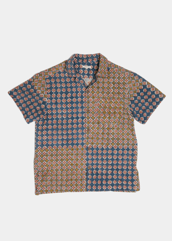 Archie Shirt in Engineered Block Print