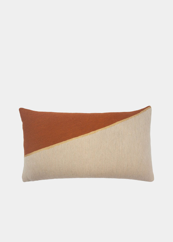 MARIANNE TRIANGLE PILLOW - OCHRE