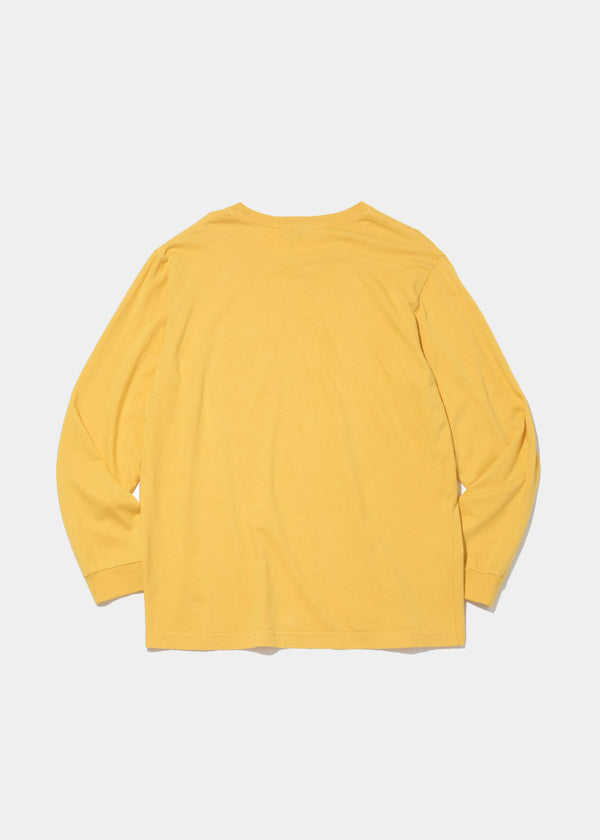 L/S Basic Pocket Tee, Mustard