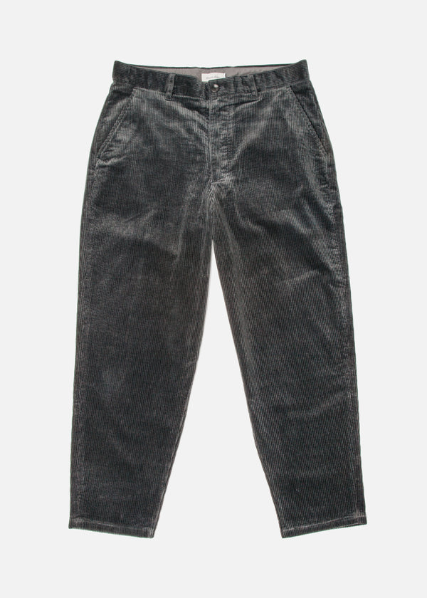 Corduroy Peg Pant in Dark Gray