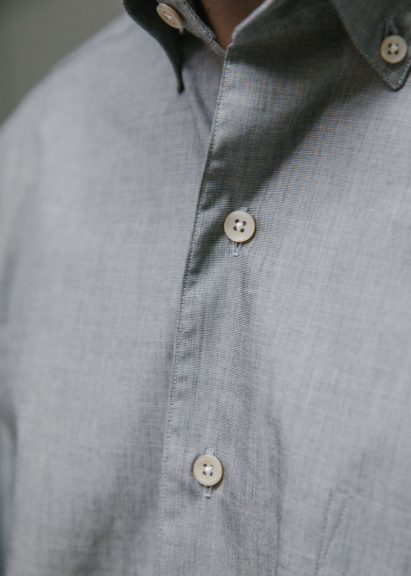 Single Needle Shirt, Dove Grey