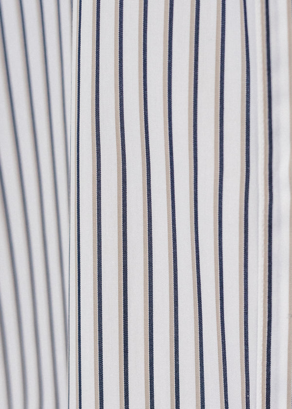 Short Sleeve Single Needle Shirt / Savoy Stripe