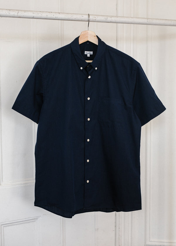 Short Sleeve Single Needle / Navy End on End