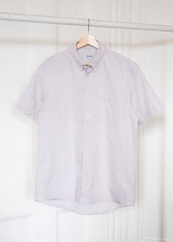 Short Sleeve Single Needle / Tobacco Stripe