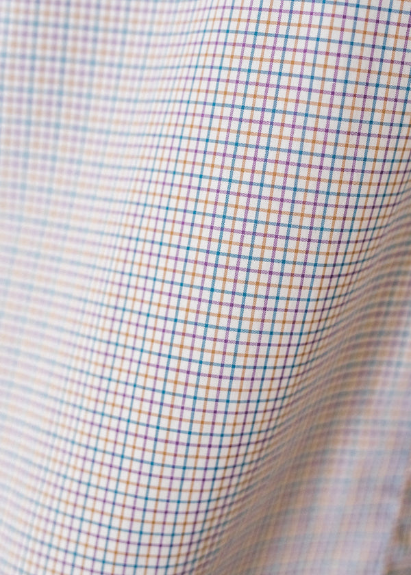 Short Sleeve Single Needle Shirt / Valley Check