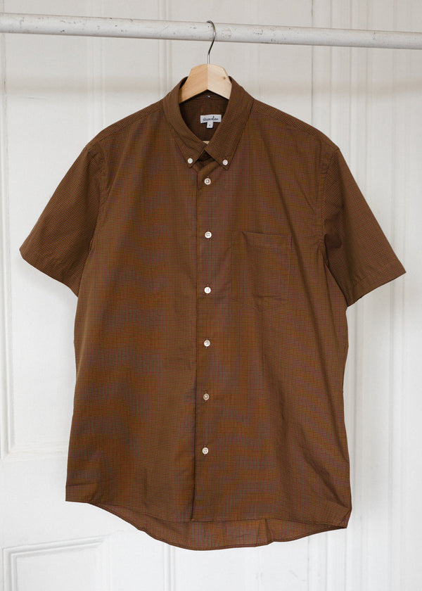 Short Sleeve Single Needle Shirt / Burnt Sienna