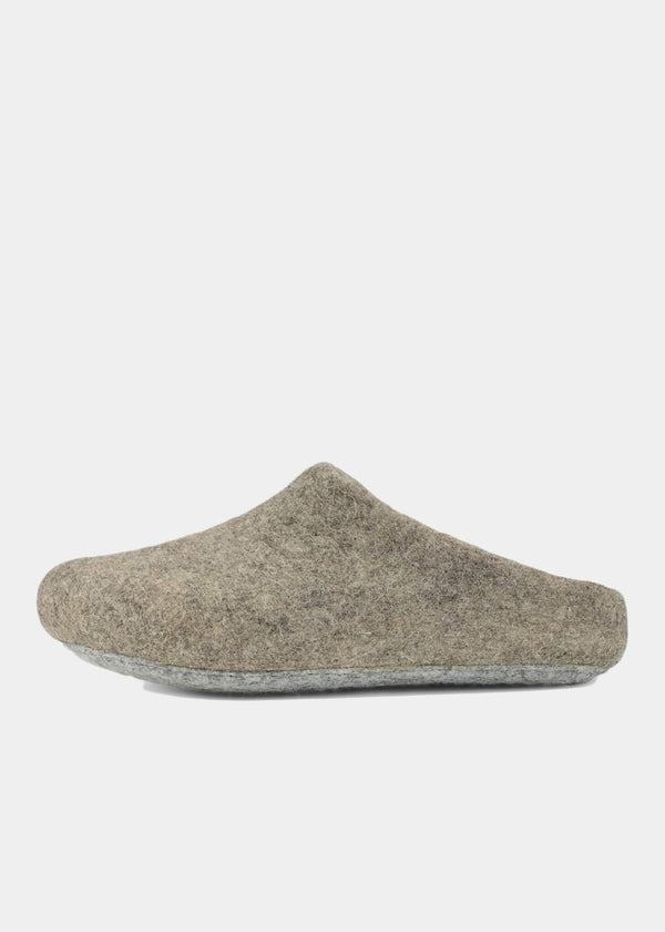 Classic Wool Slippers Low-Back, Oatmeal Womens