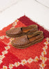Men's Woven Shoe in Oiled Leather