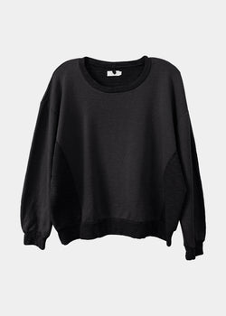 Amala Crewneck Pullover in Black