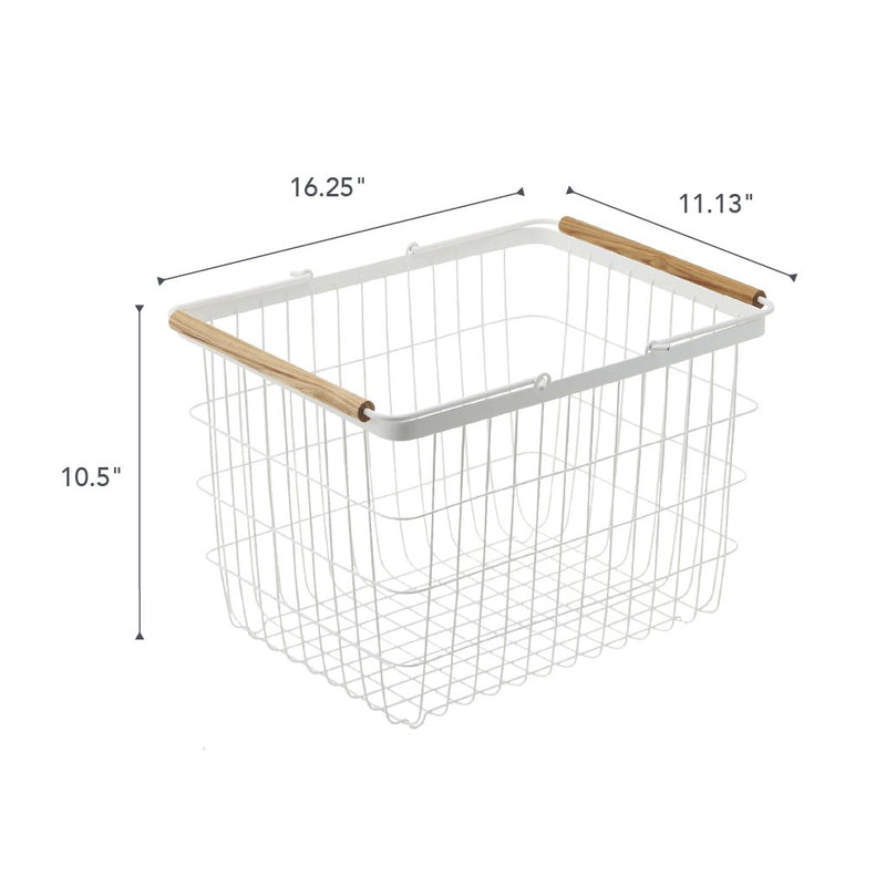 Wire Laundry Basket | White Steel