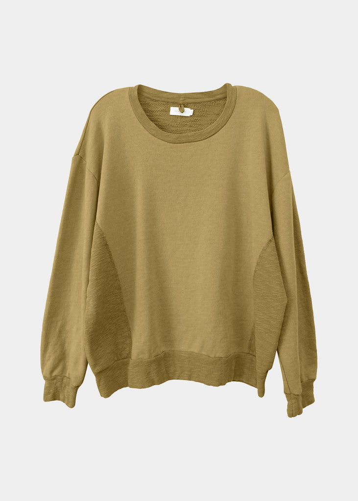 Amala Crewneck Pullover in Curry
