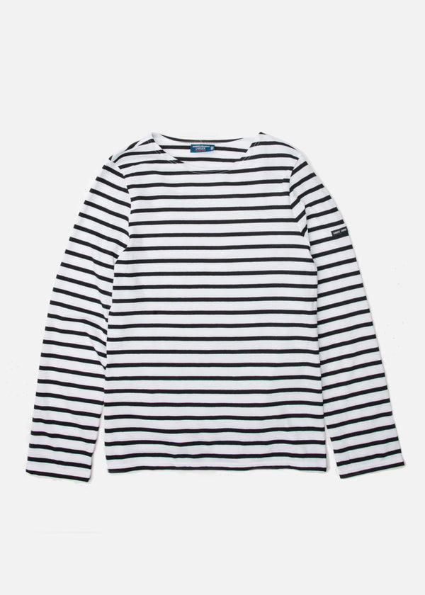 Minquiers Moderne Long Sleeve in Neige/Noir