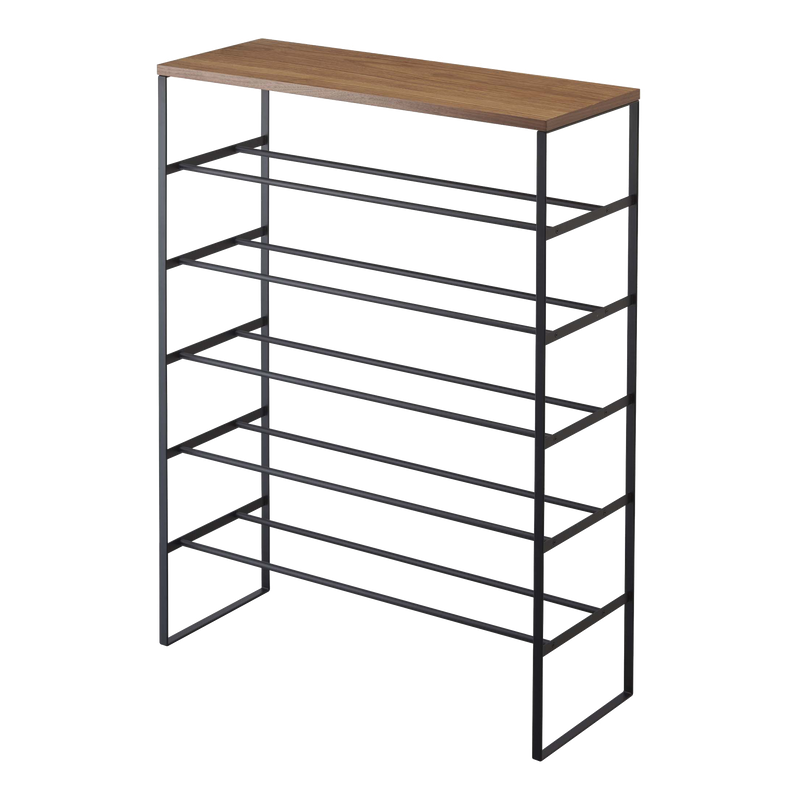6-Tier Wood Top Shoe Rack