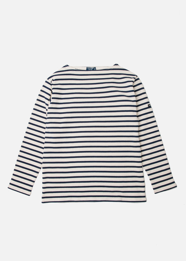 Guildro Long Sleeve Shirt in Ecru/Marine