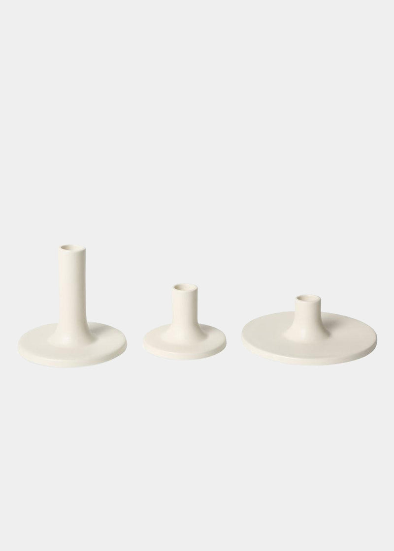 Ceramic Taper Holders, Matte White