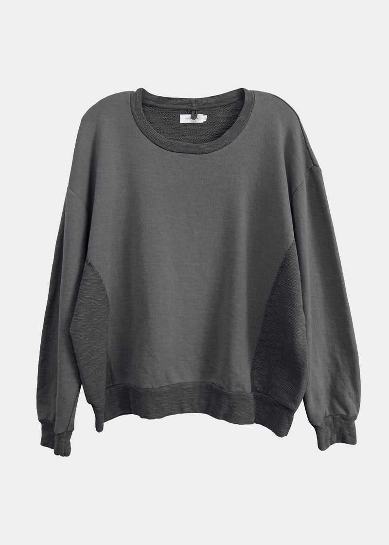 Amala Crewneck Pullover in Gravel