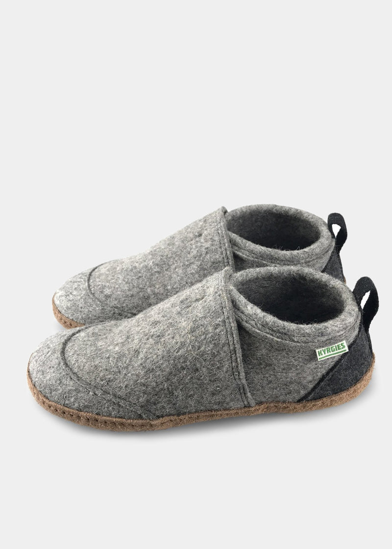 All Natural Tengries House Shoes, Gray, Mens