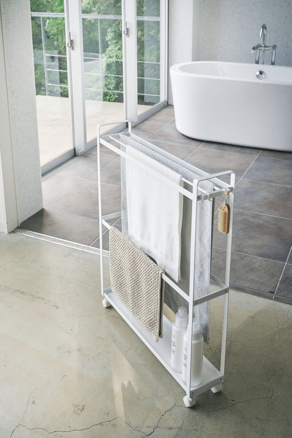 Towel Rack and Bath Cart