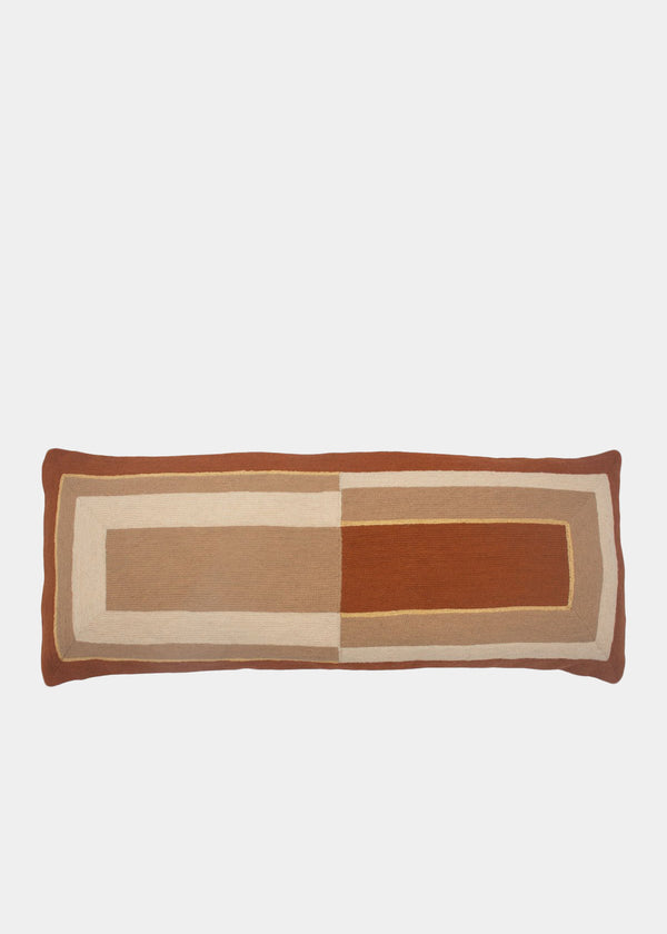 MARIANNE RECTANGLE PILLOW - OCHRE