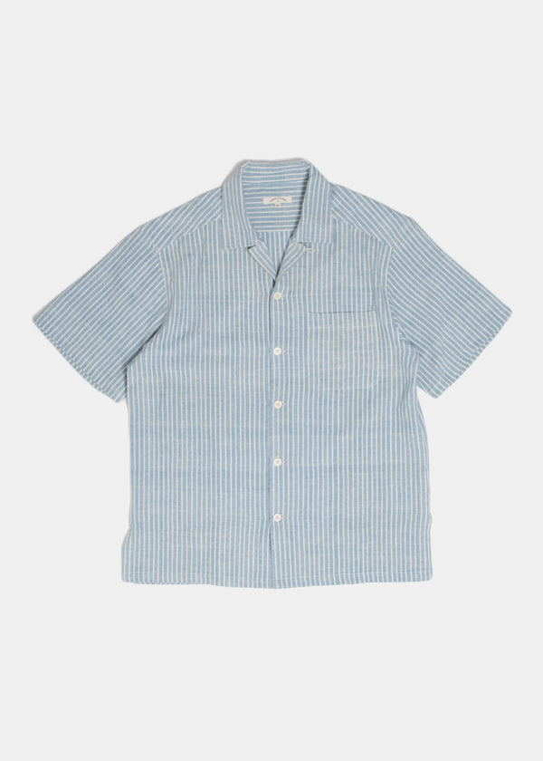 Archie Shirt in Lt Indigo Stripe