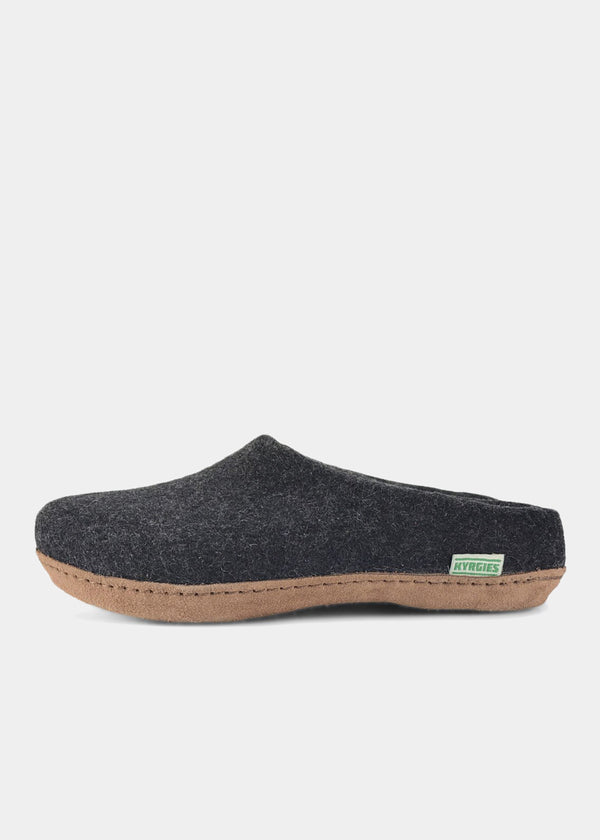 All Natural Molded Sole Low Back, Charcoal Womens