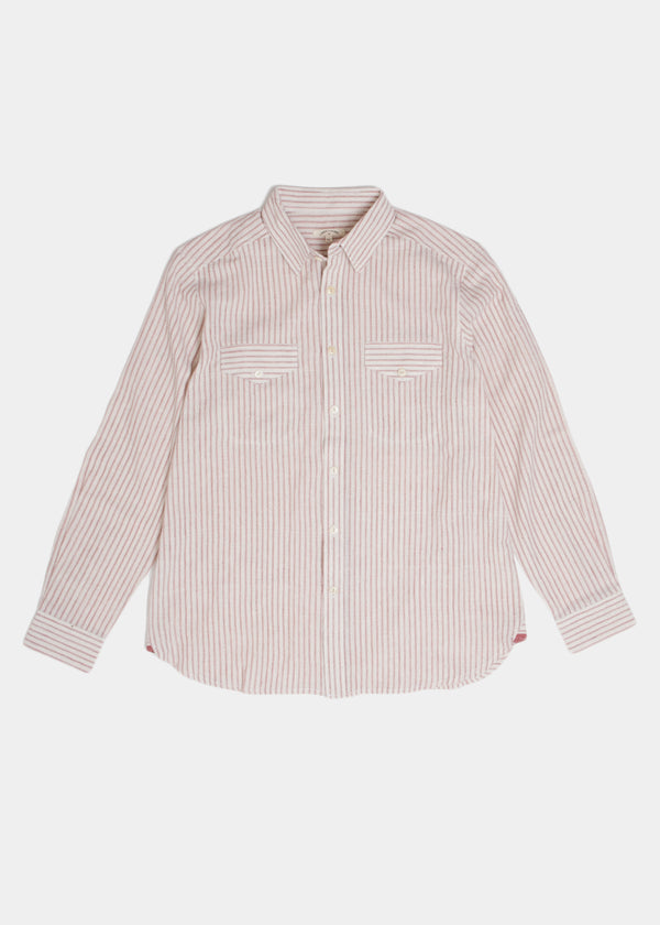 Work Shirt in Kora Red Stripe