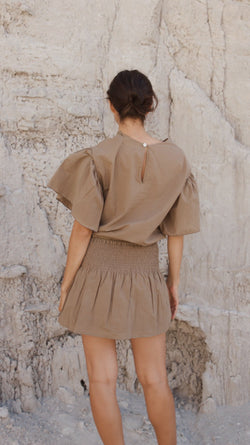Bell Top / Khaki Cotton