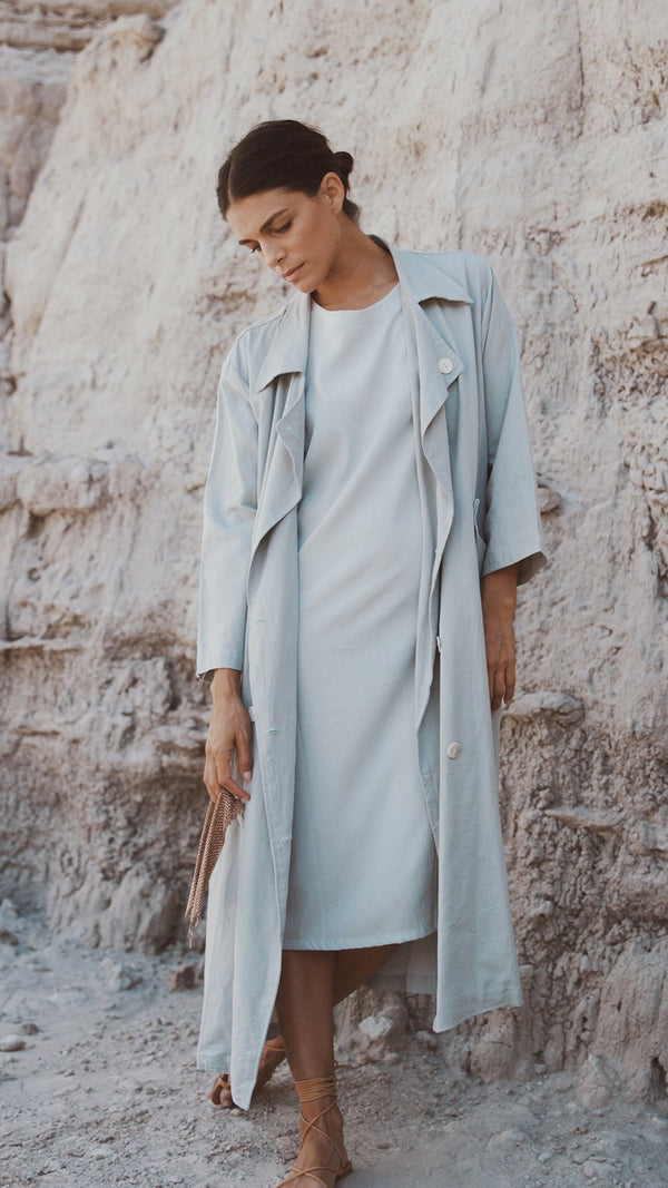 Ladies First Trench / Marine Linen