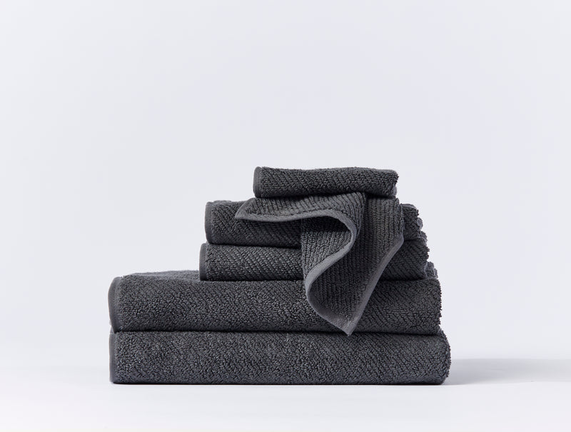 Air Weight Organic Towels, Shadow