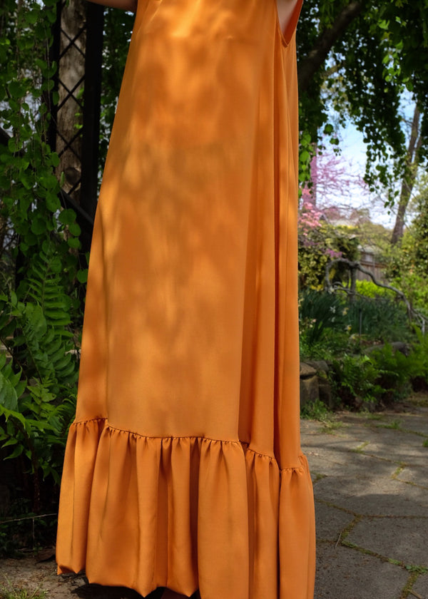 Claire Dress in Tangerine