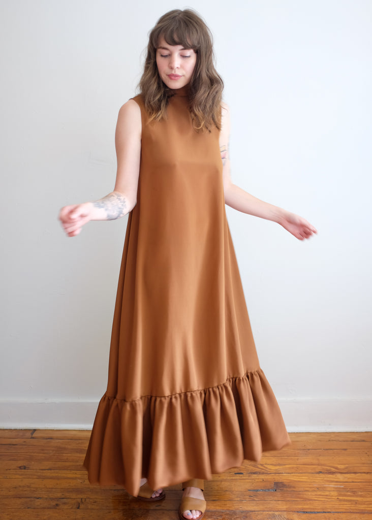 Claire Dress in Terracotta