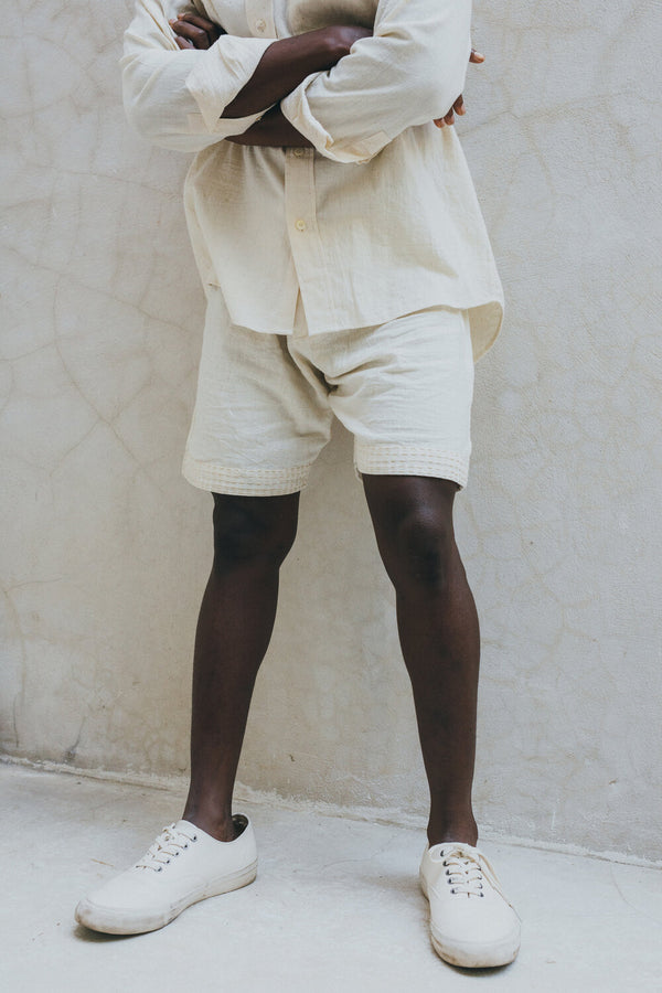 DECK SHORT - undyed kala cotton