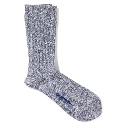 Organic Cotton Ribbed Slub Crew Socks