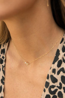 Sliding Extrovert Necklace / 14k Gold