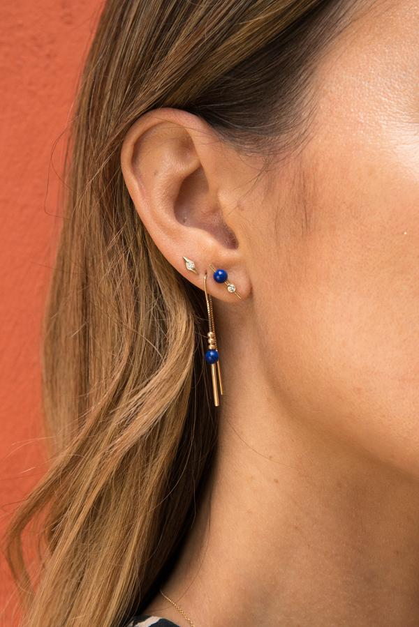 Gravitas Slip-On Earring / 14k Gold
