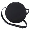 Circle Crossbody Bag in Veg Tanned Black